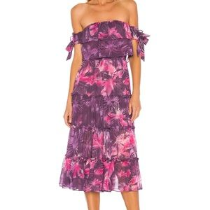 MISA Los Angeles Tie Dye Micaela Dress BNWT
